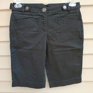 |Cato| Bermuda Shorts Black Casual Cotton Blend